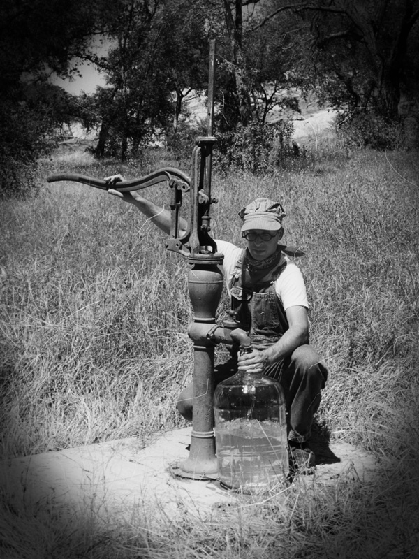Pumping is a series of photos, an art installation, and a movie by Joel Tauber that imagines a future when water is scarce and oil no longer exists; while it also looks back at the forces that built the sprawling city of Los Angeles.